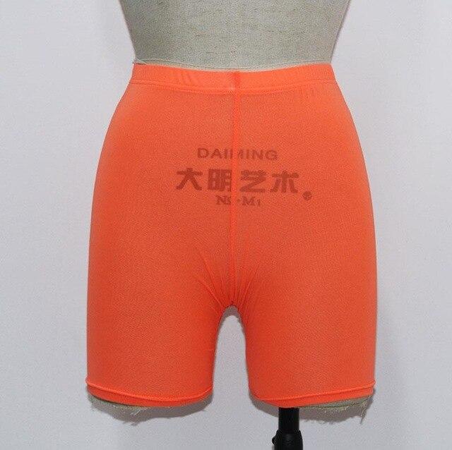 High Waist  See Through Neon Mesh Swim Shorts Cover Up 11