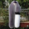 150 cm Bufanda de Piel Sintética de Las Mujeres Hit Color de los Cordones de Imitación Zorro Cuello de Piel Bufanda Del Mantón Loop Para Señoras de Las Mujeres
