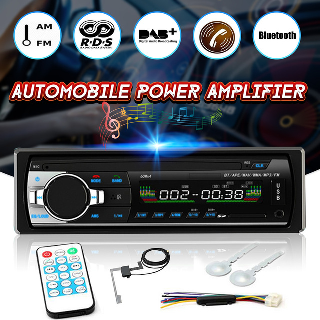 Cheap Bluetooth 4 Channel Car Audio Power Amplifier Vehicle Mounted DAB+Auto Receiver Radio Stereo Autoradio Support AM FM RDS