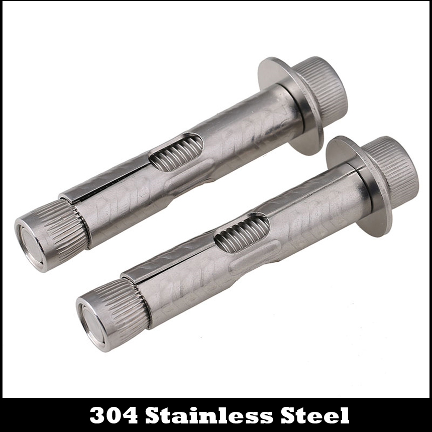 M6 M6*50/60/70 M6x50/60/70 304 Stainless Steel SS Hexagon Socket Cap Allen Head Built-in Expansion Screw Concrete Anchor Bolt stainless steel expansion screw bolt lengthened bursting wire metric standard for air conditioner m6 50 60 70 80