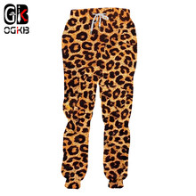 OGKB Jogger Broek Homme Fashion Lange Animal 3D Broek Print Leopard Joggingbroek Streetwear Oversized Kledingstuk Man Herfst Broek(China)