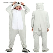 Flannel Cartoon animals conjoined  For Men Women Adult Pajamas Animal Koala Onesie Cosplay Costume Sleepwear