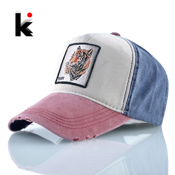 100% Cotton Baseball Caps Embroidery Tiger Dad Hat Men Women Spring Summer Outdoor Breathable Bone Fashion Unisex Animal Hats 1