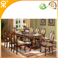 (1+10)2 meter-2.5meter rubber wood dining set for 10 persons CE-T06