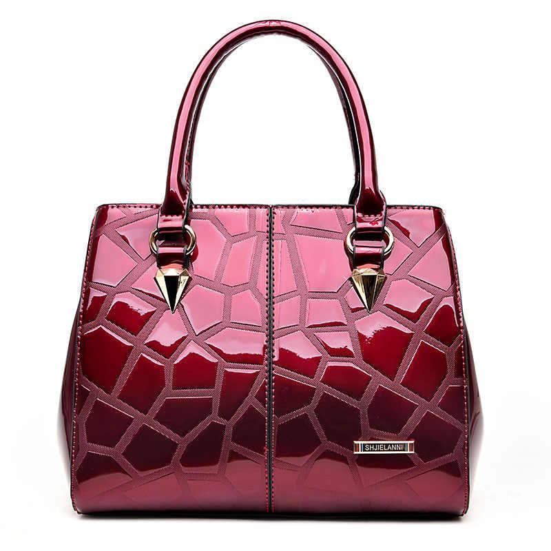 ICEV New European Fashion Luxury Handbags Women Bags Designer Handbags High  Quality Women Leather Handbags Patent 35b9f999b2907