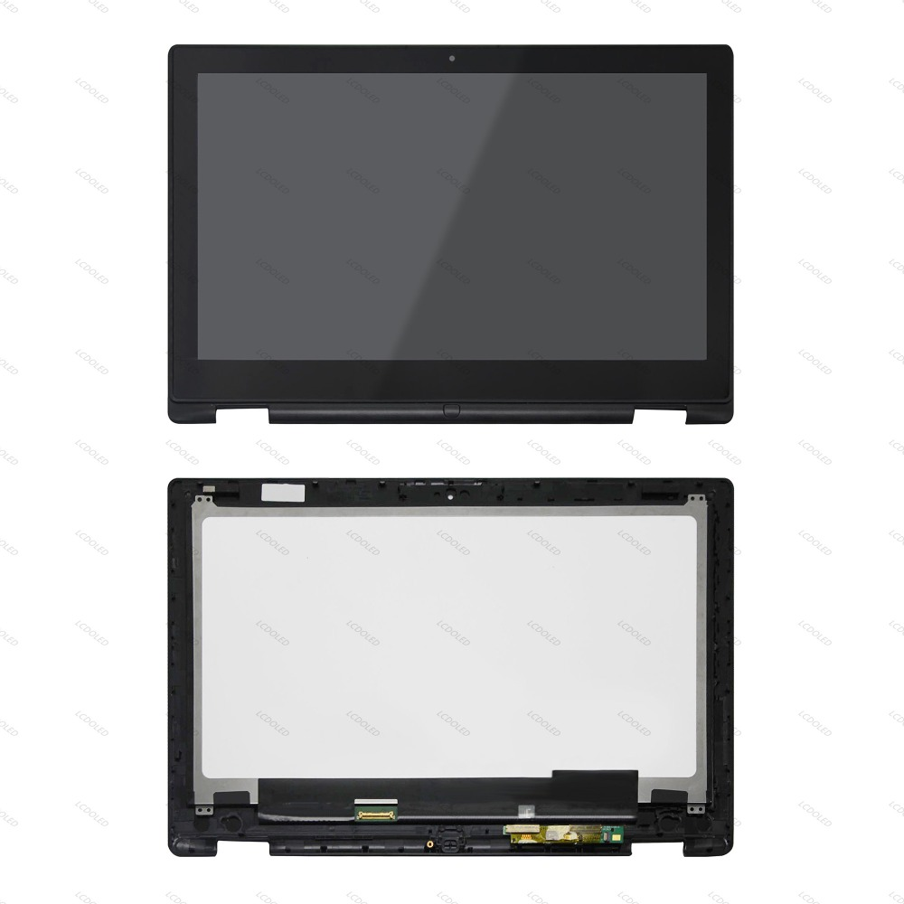 LCD Display Touchscreen Glass Panel Digitizer Assembly Bezel For Dell Inspiron 13 7352 7353 P57G001 LP133WH2-SPB1 LTN133HL03-201 lp133wh2 spb1 13 3 inch lcd touch screen digitizer assembly for dell inspiron 13 7347 7348 lp133wh2 spb1 display panel