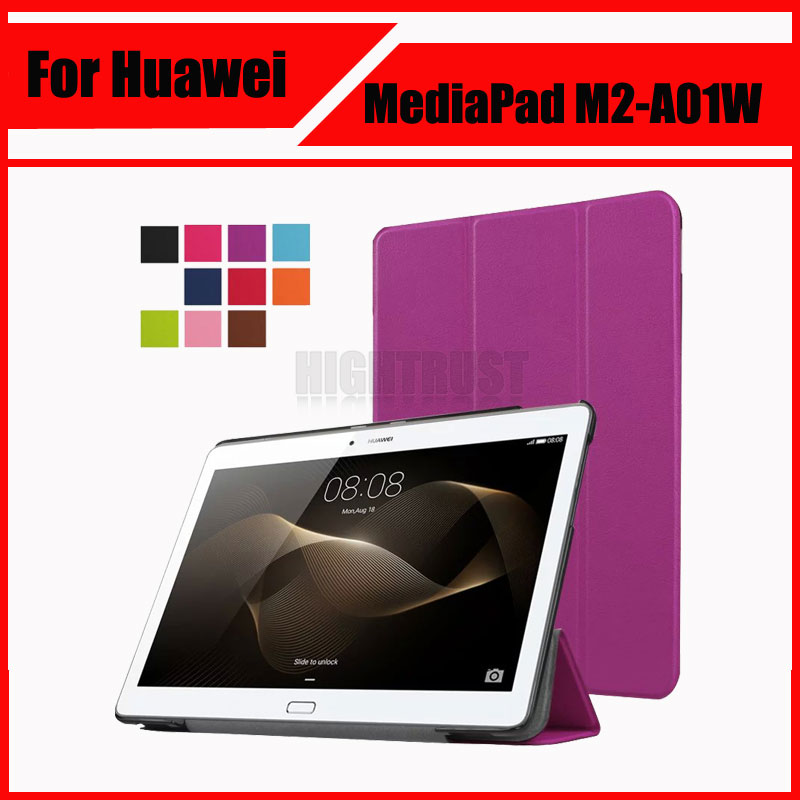 3 In 1 Luxury Stand Pu Leather Case Cover For Huawei Mediapad M2 10 M2-A01W M2-A01L 10.0 10.1 Tablet PC + Screen Film + Stylus