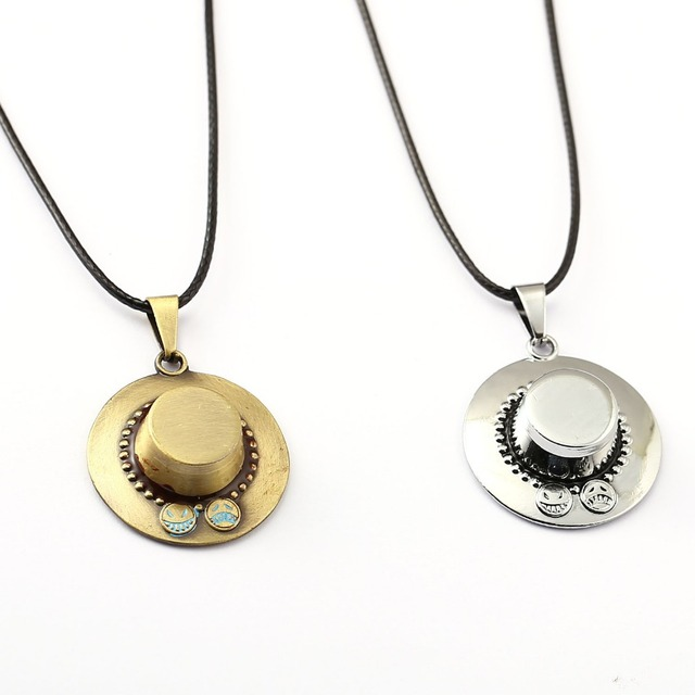 ONE PIECE Necklace Ace Hat Pendant Necklace Friendship Men Women Anime Jewelry Choker Accessories