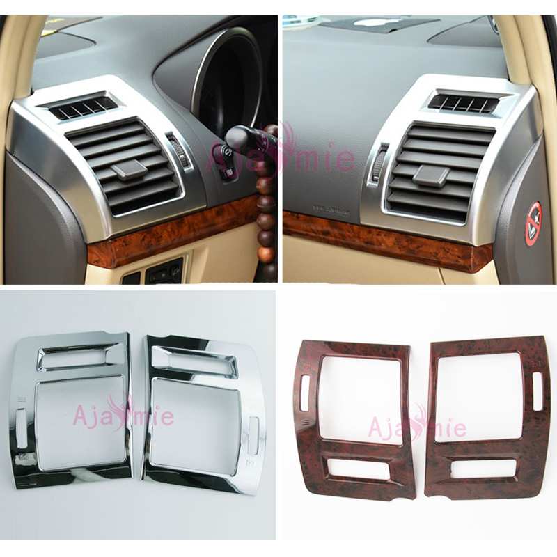 Accessories For Toyota Land Cruiser 150 Prado LC150 FJ150 2010-2018 Side Air Conditioner Vent Cover Trim Wood Car Styling