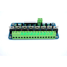 8-channel mos tube module, single-chip PLC amplification field effect tube, optocoupler isolation eight-way mos tube driver boar 0 24v top mosfet button irf520 mos driver module