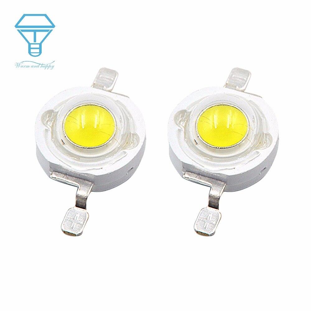 200 stücke 500 stücke lot 1W 3W Watt Weiß 1W 30mil Volle Power taschenlampe DIY LED Lampe perle LED glühbirne LED Chip Carlight Downlight