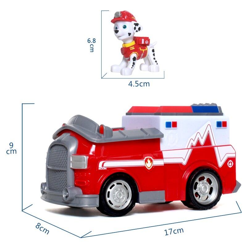 Щенячий патруль Собака Paw Patrol Marshall автомобиль игрушки patrulla canina фигурки Щенячий патруль собака игрушка для детей дети игрушки подарки