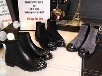 Crystal Embellished Metal Round Toe Women Ankle Boots Low Heel Shoes Chelsea Boots Luxury Brand Super Star Runway Bottes Femme