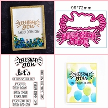 CELEBRATE YOU Scrapbooking DIY Metal Cutting Dies And Clear Stamp Stencil Handmade Embossing Paper Cards Decoration