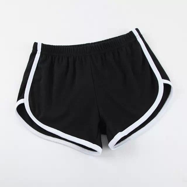 Карамельный цвет ретро пикантные стрейч шорты для женщин женские 13 цветов повседневные свободные пляжные Hotpants - Цвет: black white side