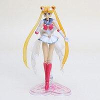 14 cm SHFiguarts Anime Sailor Moon Figure Jouets Sailor Moon Tsukino Usagi PVC Figurines Collection Modèle Jouets Poupées