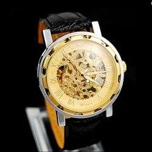 Nuevos Hombres de la Moda relojes de Pulsera Mecánicos Esqueleto Caso Clásico Del Deporte Del Ejército Del Reloj Del Reloj de Acero Inoxidable Mecánica PT