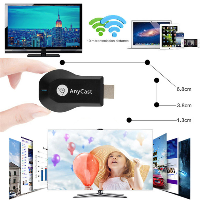 M100 4K HD 2.4G/5G WiFi Dual Frequency Wireless HDMI TV Same Screen Receiver TV Dongle Receiver Fits for Netflix Google Youtub(China)