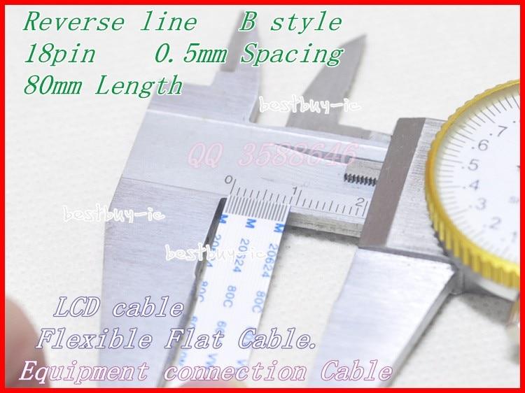 0,5mm Abstand 80mm Länge + 18-pin B/rückwärts Linie Weichen Draht Ffc Flexible Flachkabel. 18 P * 0.5b * 80 Mm 100% Garantie