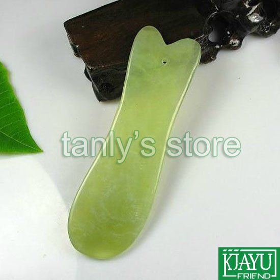 Hot Good quality! WholesaleTraditional Acupuncture Massage Tool Guasha Board, Fish Natural Hsiuyen Jade, Scrapping hot sale good quality inductive