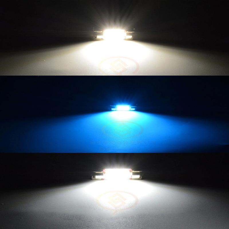 JSTOP 4-delad / set led läslampa superljust bil 6000K 31mm c5w - Bilbelysning - Foto 5