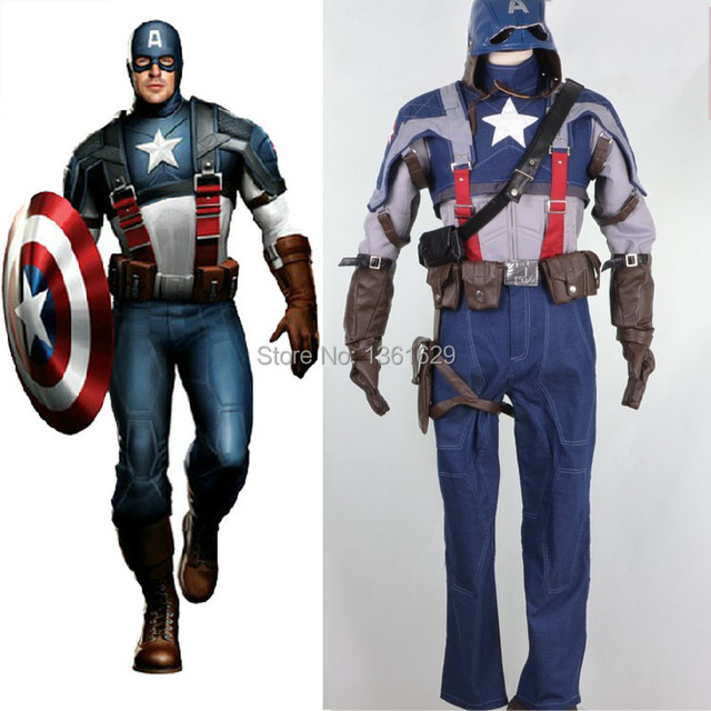 Hot Sale Customized Halloween Costumes for Men Adult Captain America Movie Costume Steve Rogers Cosplay Captain  sc 1 st  AliExpress.com & Hot Sale Customized Halloween Costumes for Men Adult Captain America ...