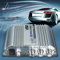 Hi Fi 12V Mini 2 1Channel Digital Audio Auto Car Stereo Amplifier Car Home Boat Audio