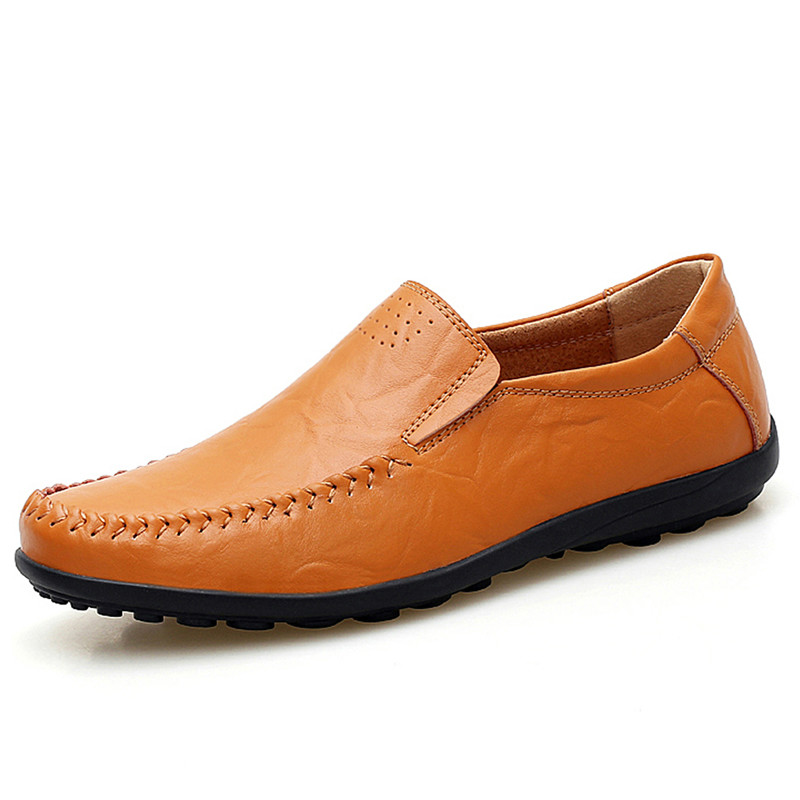 New Men's Casual Shoes Slip-On Flats Soft Genuine Leather Men Loafers Weaving Driving Classical Moccasins Men Sapato 38-45 new handmade genuine leather men flats driving soft leather korean men moccasins brand men shoes loafers slip on shoe