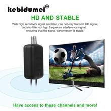 Kebidumeiアンテナアンプ電源fポートテレビポート1080 1080pテレビ信号ブースターhdtvボックスケーブルブースターアンテナブースター