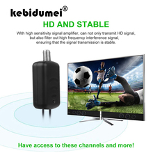 kebidumei Antenna Amplifier with USB Power Supply F Port TV Port 1080P TV Signal Booster HDTV Box Cable Booster Antenna Booster
