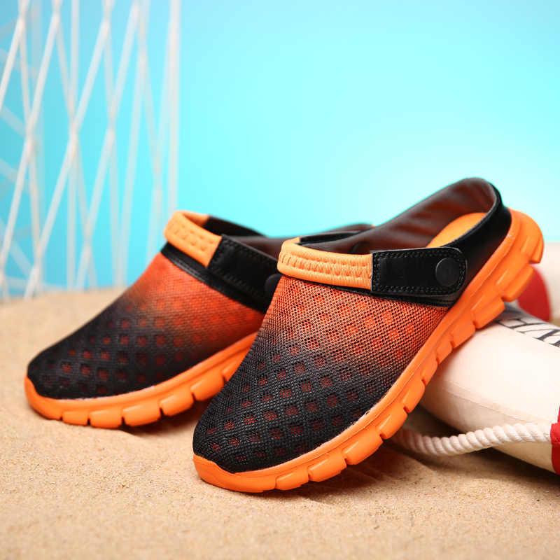 DUDELI 2020 yaz erkek sandalet nefes hafif rahat ayakkabılar rahat yüzme su YL532