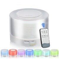 500ML Remote Control Ultrasonic Essential Oil Diffuser Air Humidifier Aroma Diffuser Fogger 7 Color LED Aromatherapy