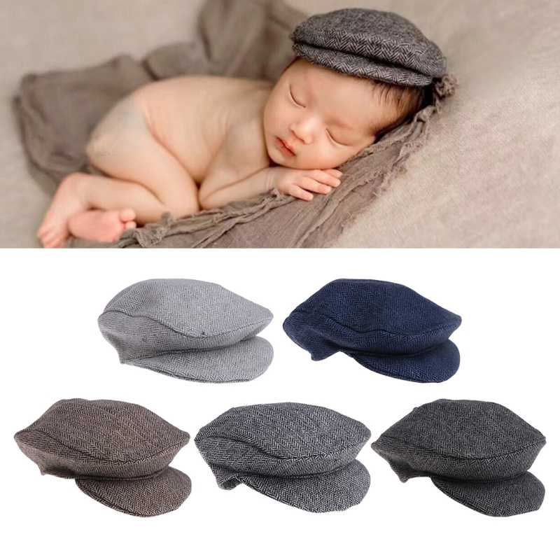 b89f37731 Cute Newborn Baby Berets Gentlemen Cap +Bow Tie Children Photography ...