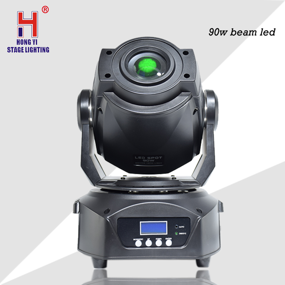 Hot 90W LED Spot Moving Head Stage Light LCD Display With 3 Face Prism