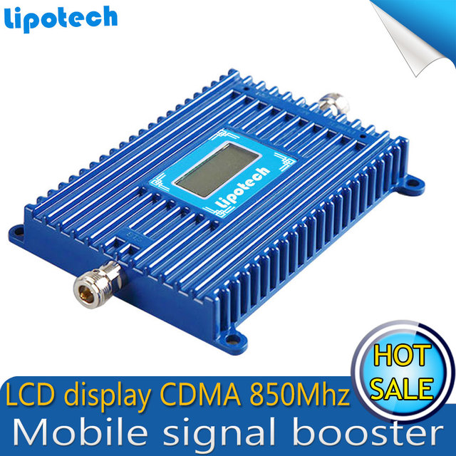 1pcs x CDMA 850MHz Mobile Cell Phone Signal Booster UMTS 850MHz Repeater Amplifier Celular 70dB  With LCD Screen
