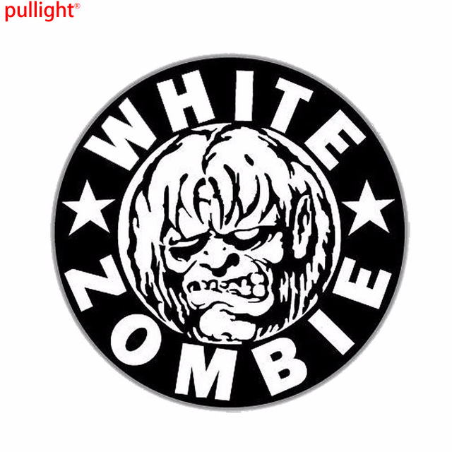 White zombie window stickers car cool styling accessories