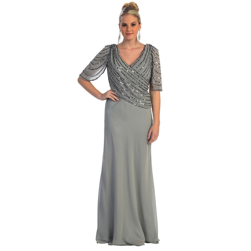 New Elegant Gray Mother Of The Bride Dresses 2016 Plus
