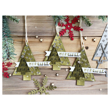 Eastshape Twinkling Trees Star Stamps and Dies Christmas Tree Clear Stamp Cutting Scrapbooking Paper Craft Handmade Album