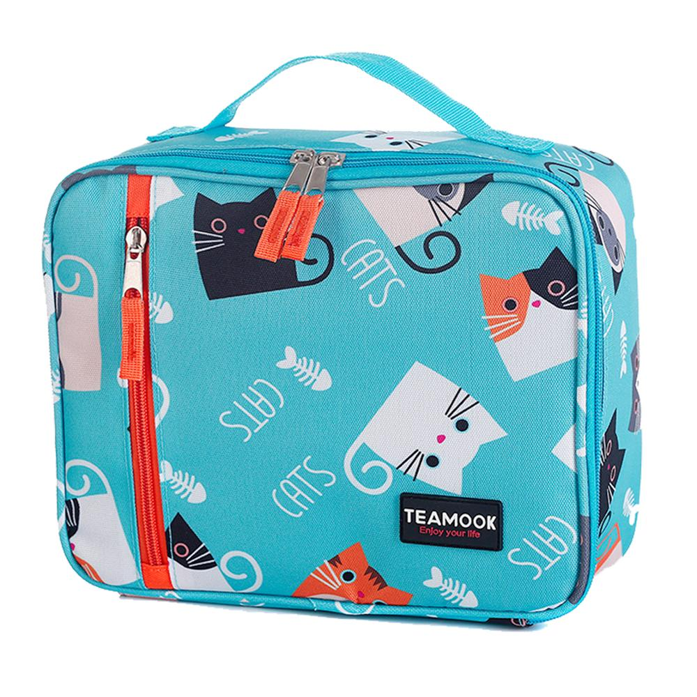 Cute Cat Insulated Portable Lunch Bags For Women Kids Men Thermal Picnic Outdoor Leak -Proof Children Lunch Box Cooler Food Bag