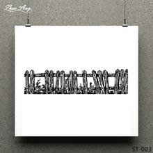 купить ZhuoAng Wooden design Clear Stamp for Scrapbooking Rubber Stamp Seal Paper Craft Clear Stamps Card Making по цене 177.81 рублей