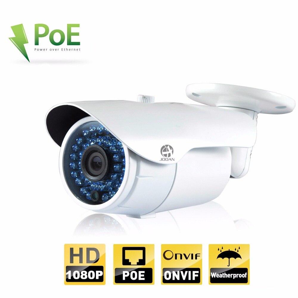 JOOAN 2MP ONVIF IP Extérieure Caméra 1080 P Bullet POE Caméra de Sécurité Étanche de Vision Nocturne 36 IR-Led Blanc CCTV Réseau