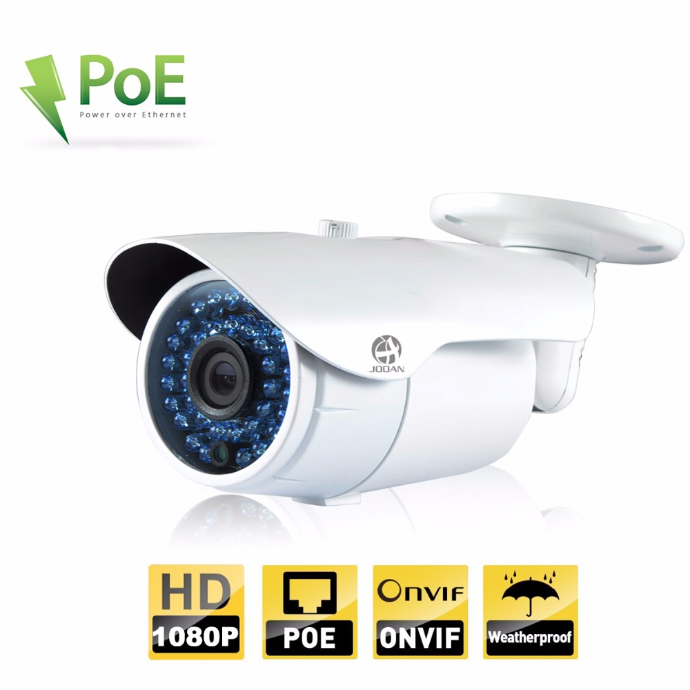 JOOAN 2MP ONVIF Outdoor IP Camera 1080P Bullet POE Security Camera Waterproof Night Vision 36 IR-Leds White CCTV Network wistino 1080p 960p wifi bullet ip camera yoosee outdoor street waterproof cctv wireless network surverillance support onvif