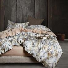 29 цветов роскошный Египетский хлопок Комплект постельного белья Королева Король Размер 3d Фламинго лист пододеяльник простыня комплект простыня набор parure de lit