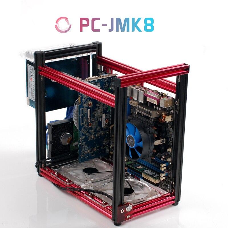 QDIY PC-JMK8 Novo Produto ATX/Micro ATX Alumínio Blocos de Construção DIY Vertical Casos de Chassi Do Computador