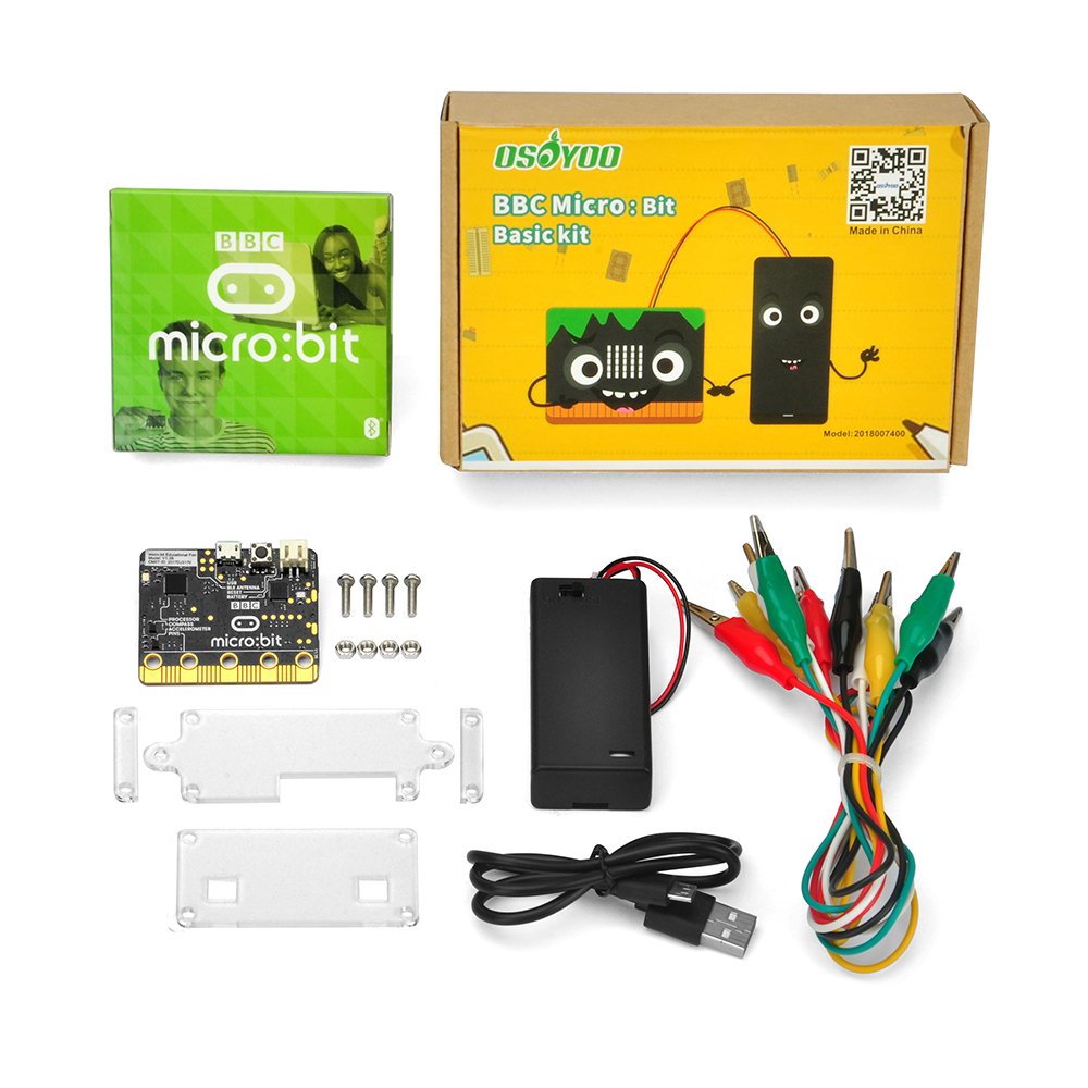 OSOYOO BBC Micro bit Basic kit learn programming for kids and beginners not include 2 AA
