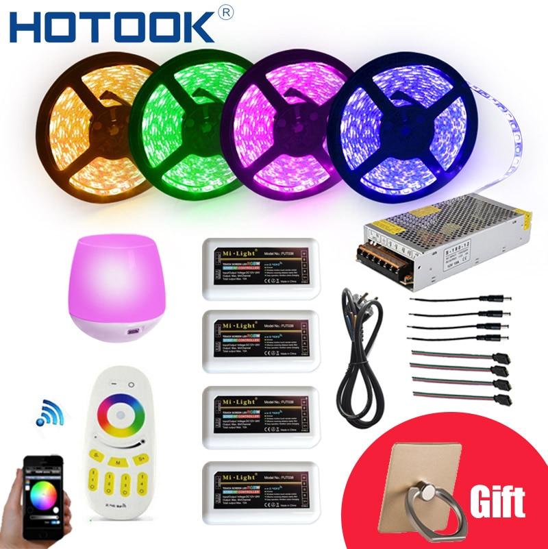HOTOOK wifi LED Strip12V Flexible 5050 300 LED RGBW IP65 étanche 20 M App LED chaîne ruban Dimmable LED corde plafond ruban Kit