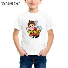 Yokai watch summer shirt print T-shirt baby boy cotton game t O-Neck Short-Sleeve kid clothes Casual Tops tee camisa