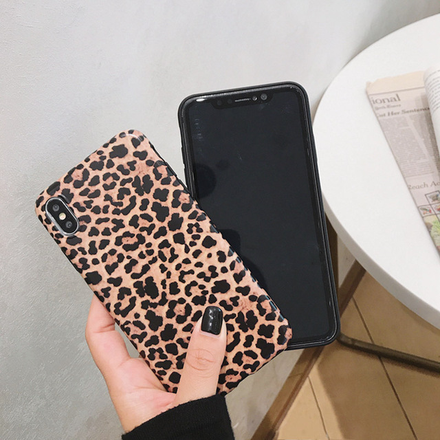 Leopard Phone Case For iphone - Luxury Soft Cases Matte Capa 4