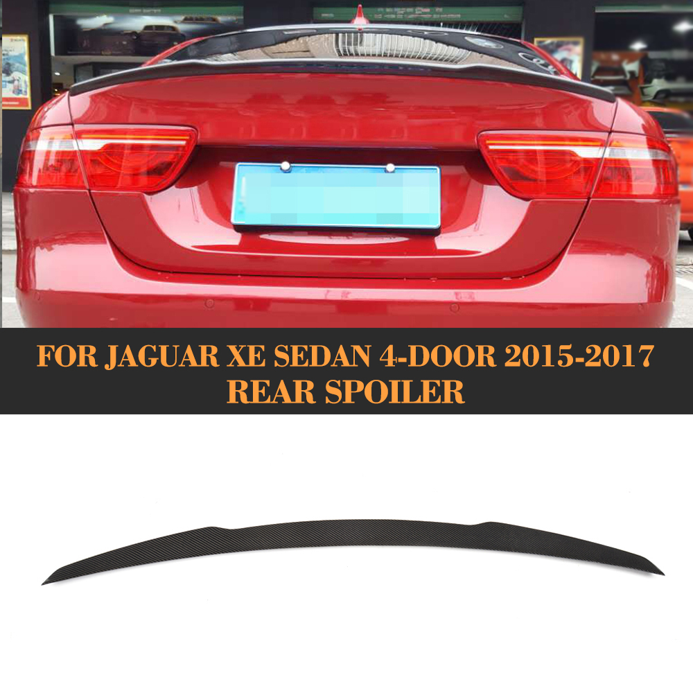 Jaguar Xe Rear: Carbon Fiber Rear Trunk Boot Lip Wing Spoiler For Jaguar