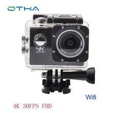 4К 25FPS экшн камеры 1920 * 1080 @ 60FPS Full HD Спорт Видеокамера Wifi 30 М Водонепроницаемый 2.0 inch ЖК-Шлем Камеры fotografica Камеры
